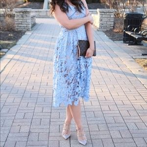 Nordstrom Lace Midi Dress